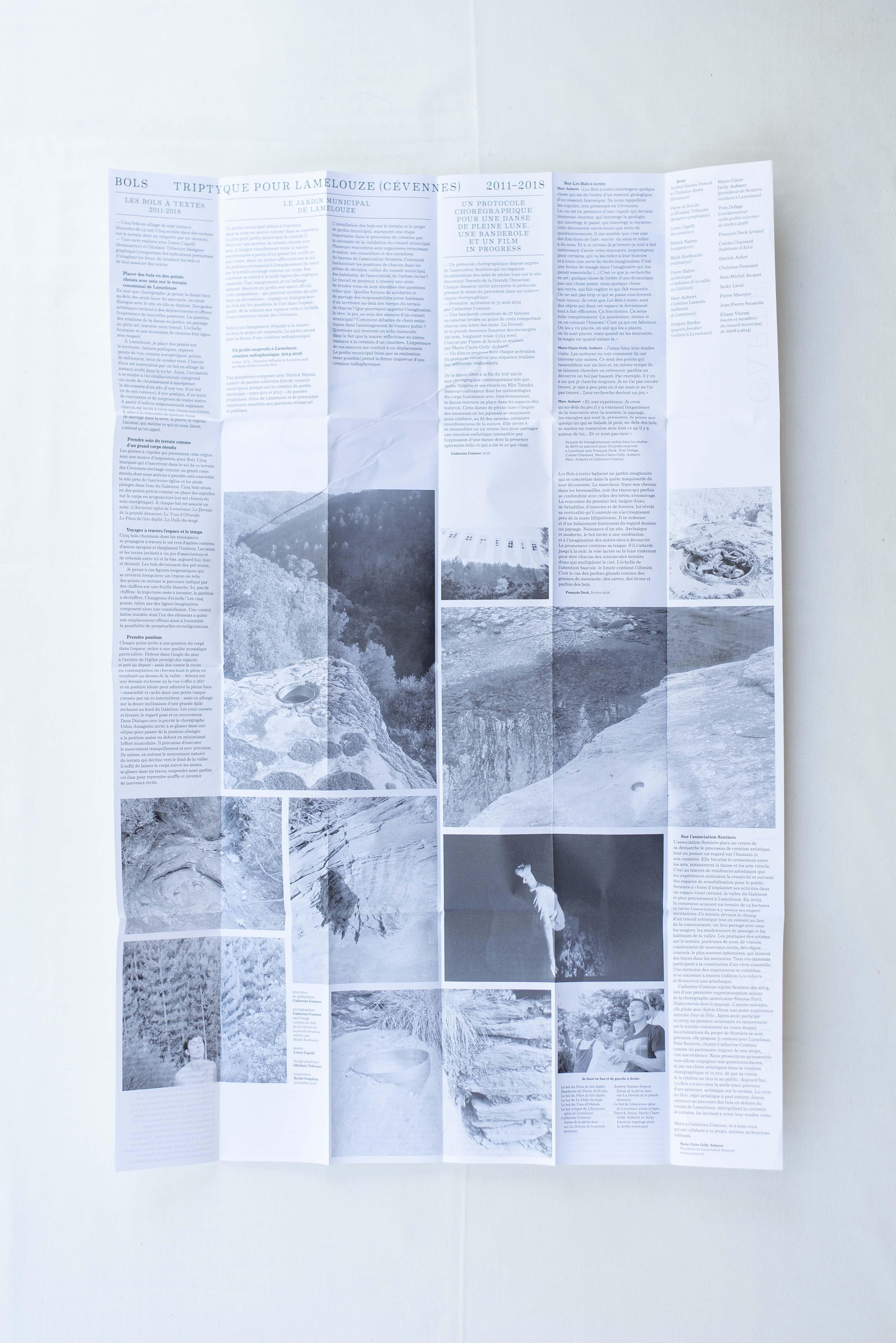 Carte pour les bols à textes (2018)